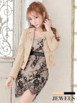 【SALE!】スーツ/ノースリーブレースワンピ/キャバドレス【S-XLサイズ/2カラー】[OF09]