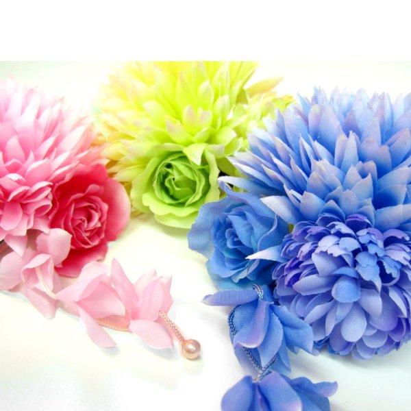 画像4: 【浴衣小物】【3カラー】ミニダリアコサージュ髪飾り[OF02]