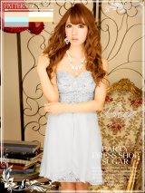 【SALE】高品質☆高級ライン☆シフォンスカートが軽やかなベアタイトドレス[HC02]