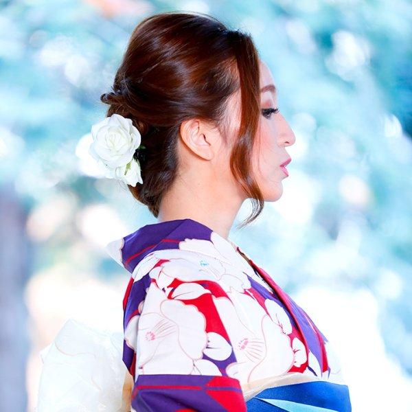 画像4: 【浴衣小物/コサージュ】薔薇コサージュ髪飾り[OF02]