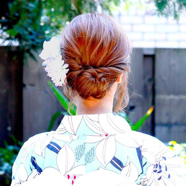 画像5: 【浴衣小物/コサージュ】小花コサージュ髪飾り[OF02]