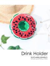 【浮き輪】スイカ ドリンクホルダー [OF02]