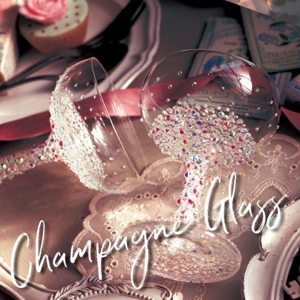 画像1: 【雑貨:グラス】【sugarシャンパングラス】キラキラと光るビジューが散りばめられたシャンパングラス【HC02】