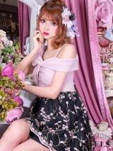 SALE!フレアドレス/チュールレース刺繍/ワンショル/キャバドレス【S-Lサイズ/1カラー】[OF09]