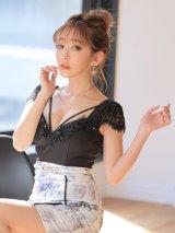 フラワーモチーフドレス/カットアウト/タイトスカート/キャバドレス【XS-Lサイズ/1カラー】[OF09]