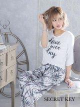 """SALE!【ルームウェア:セットアップ】フレアースリーブボタニカルセットアップ """"ファッション雑誌SHeコラボ"""" [HC02]"""