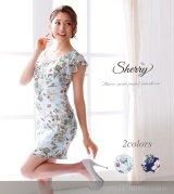 【Sherry】【S-XLサイズ/2カラー】フラワープリントワンピース[OFT02]