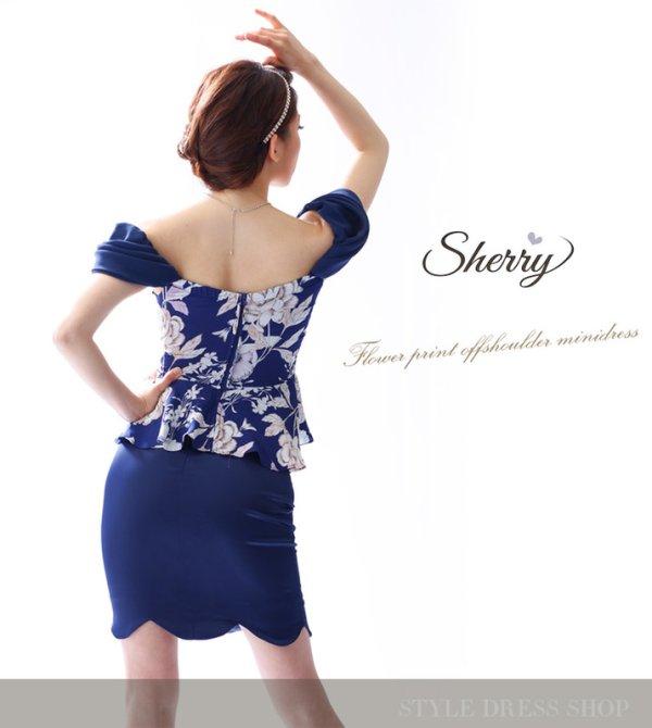 画像3: 【Sherry】【S-XLサイズ/2カラー】ドレープオフショルダーフラワープリントミニドレス[OFT02]
