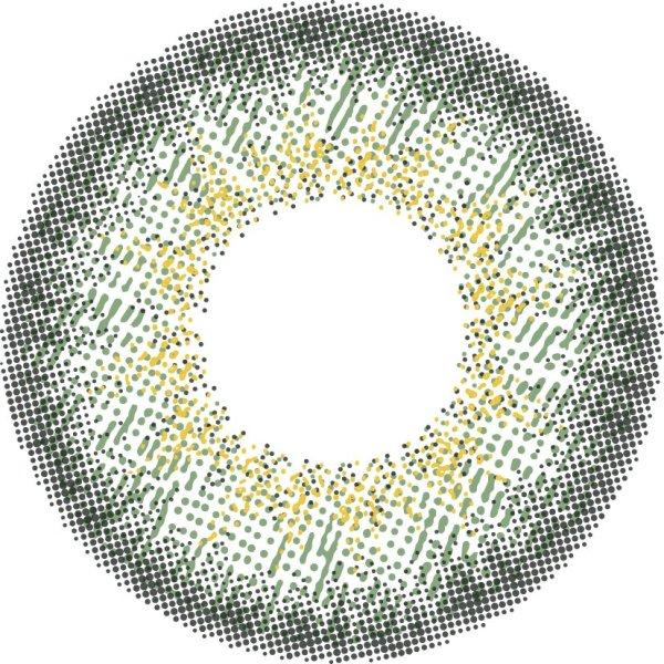 画像2: 【loveil  AquaRich UV/ラヴェール アクアリッチユーブイ】(ジャスミンアイビー)度あり/度なし(1箱10枚入)1日使い捨てカラーコンタクト【カラコン】