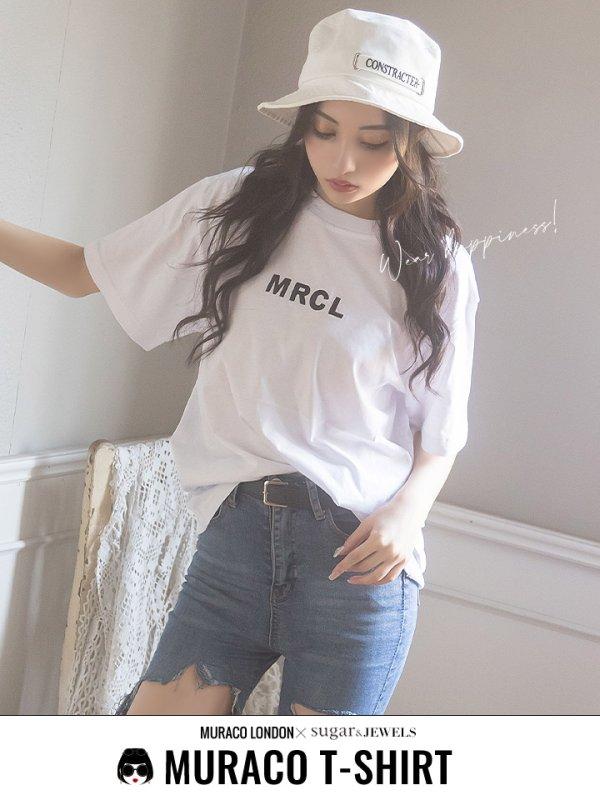 画像1: 【MURACO×sugar&JEWELS】MURACOLONDON ムラココラボTシャツ/ ベーシックロゴデザイン【S-XLサイズ】