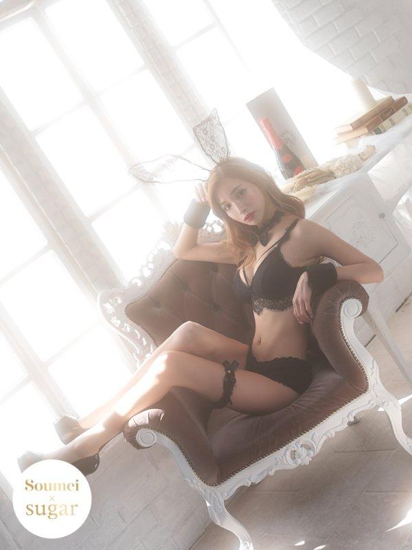 画像2: MIYUちゃん コラボセクシーバニーコスプレセット【sugar nineハロウィンコスプレ6点セット】【2サイズ/1カラー】【OF03】