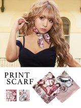 【スカーフ/2カラー】ドレスに!小物に!スクエアスカーフ[OF02]