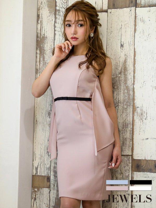 画像1: 2wayバックデザインドレス/ウエストマーク/タイトワンピース/キャバドレス【S-Mサイズ/4カラー】[HC02]