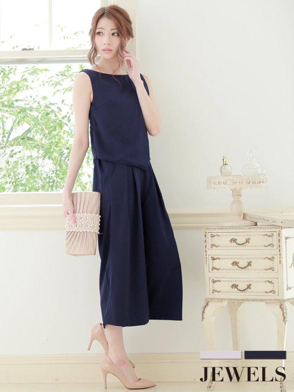 画像1: パンツドレス・着回しも出来るセットアップパンツドレス【S-XLサイズ】[HC02]