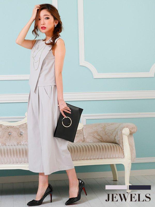 画像2: パンツドレス・着回しも出来るセットアップパンツドレス【S-XLサイズ】[HC02]