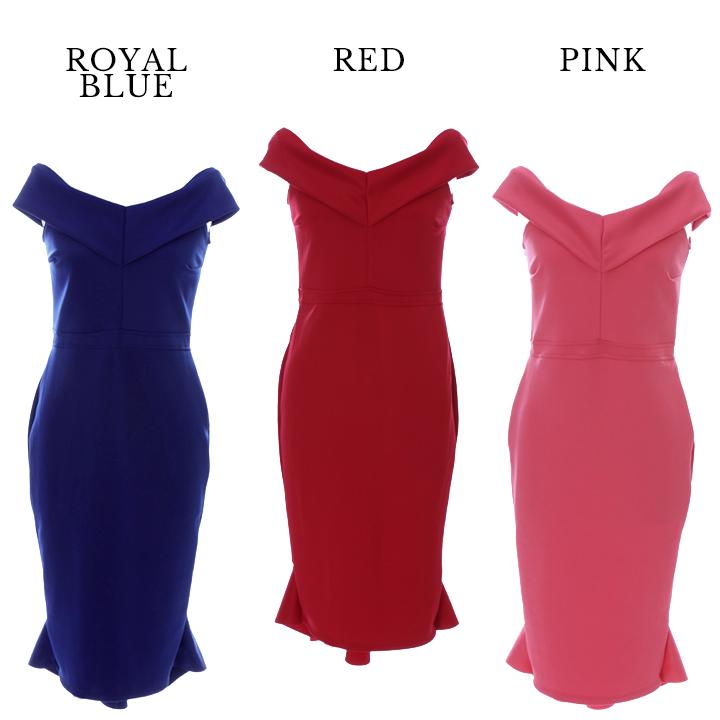09c0020058d8a  1サイズ 2カラー オフショルダー シンプルミディアムドレス ミニキャバドレス OF03   1075IC-1704-1