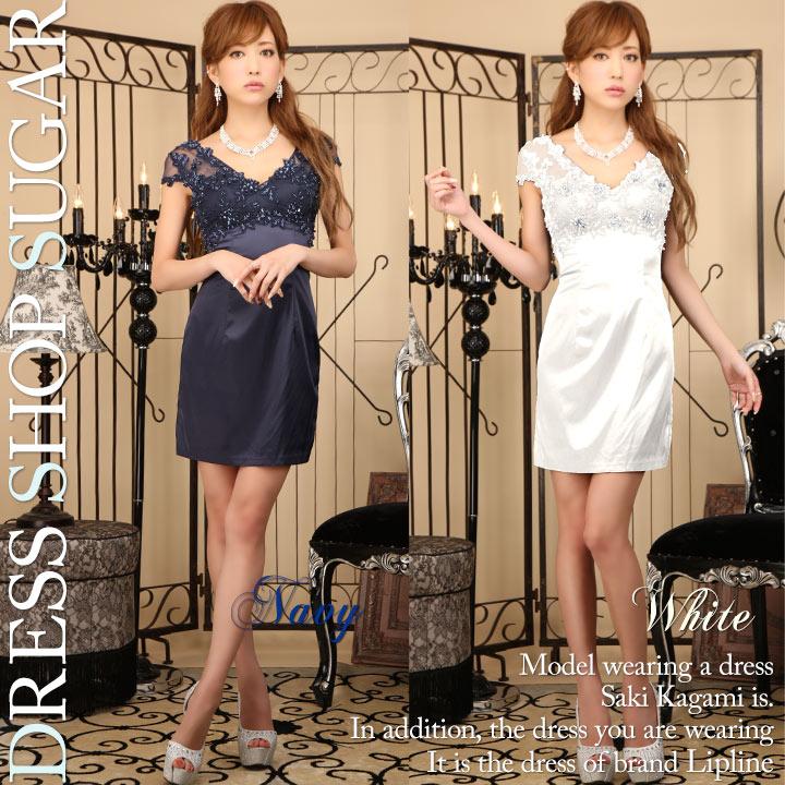 ba67beefd57ae  SALE 高品質☆高級ライン☆上品な肌魅せ×ビジュー煌くSexyディテール♪♪ミニワンピキャバドレス☆ HC02   L-0440